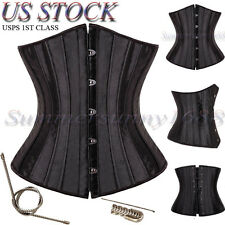 26 Spiral Steel Boned Waist Training Plus Size Underbust Corset Shaperwear Top