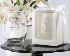 50 Personalized Stemless 9 oz Wine Glass Wedding Bridal Shower Party Favor