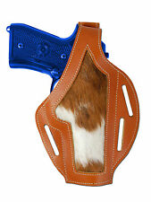 New Barsony Tan Leather Custom Gun Holster Smith & Wesson Full Size 9mm 40 45