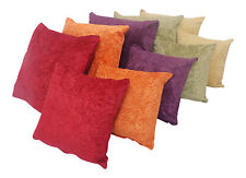 Plain Soft Crushed Velvet large 24in x24in or 18in x 18in  Cushion Covers