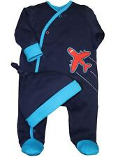 Boys Infant Baby cozy & warm Airplane Footie Sleeper and Hat by Offsprings