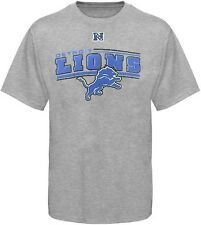 Detroit Lions NFL Team Apparel JPD Tee Shirt Gray Big And Tall Sizes