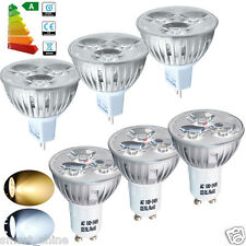 1/4/10x GU10 MR16 4W LED Spot Bulbs Spotlight Warm/Day White Light High Power UK