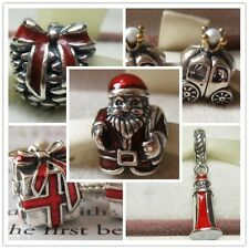925 Sterling Silver Christmas Gifts Series Bead Fits European Charm Bracelet