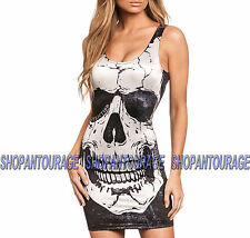 Affliction Skully AW9734 Women`s New Black Dress