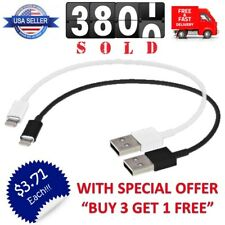 """Short 8"""" USB Cable Charger Data Sync for iPhone 5/S/C 6/Plus Small Charging Cord"""