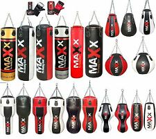 Maxx filled punch bag in sizes 3ft, 4ft.5ft & free gel bag gloves boxing bag uf