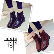 British Retro round toe Martin boots Bilateral zipper Ankle women boots