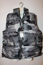 NWT grey city camouflage L to 3XL vest padded bubble jacket