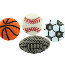 FUNKY BOYS MENS SPORTS BALL STUD EARRING SINGLE RETRO COOL GIFT PLAY GAME TEAM