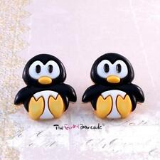 FUNKY PENGUIN STUD EARRINGS CUTE SWEET KITSCH GIRLS QUIRKY NOVELTY GIFT CARTOON