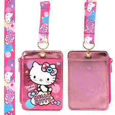 Authentic Sanrio 2 Layer Credit ID Badge Card Holder Coin Case Bag Purse W/Strap