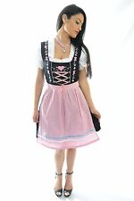 "German Dirndl Dirndls Dirndl Dress ""PINK HEART"" Sizes 0 2 4 6 8 10 12 available"
