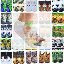 1 Pair Casual Men Women Fashion Low Cut Ankle Socks Cotton 3D Printed  Animals