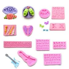 3D Silicone Floral Tray Fondant Cake Decorating Mould Cutter Sugarcraft DIY Tool