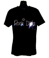 ROCK DIVA CHILDRENS T SHIRT      CRYSTAL RHINESTONE DANCE DESIGN...any size