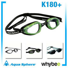 AQUA SPHERE K180+ MENS SWIMMING GOGGLES - ADULT SWIM GOGGLES - MADE IN ITALY