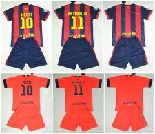 new 2014-2015 BARCELON shirt and short 3-14 years print MESSI NEYMAR or own name