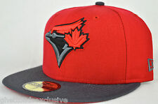 *NEW* Toronto Blue Jays Custom Red & Gry New Era 59fifty Fitted Cap