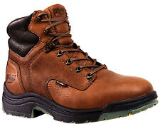 Mens Timberland PRO 24097 Titan 6-Inch Soft Toe Boot Brown Grain Leather (D, M)