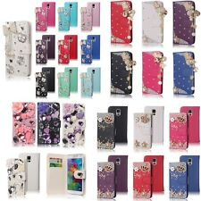 For Samsung Galaxy S5 i9600 Bling Diamond Wallet Stand Leather Wallet Case