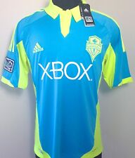 SEATTLE SOUNDERS ADIDAS JERSEY 2012 MLS SOCCER 3RD KIT CYAN MENS ALL SIZES NWT!