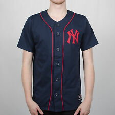 Majestic Athletic Lipman New York Yankees Navy Blue/Red Players Jersey Top
