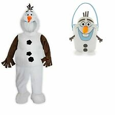 DISNEY STORE FROZEN OLAF COSTUME FOR KIDS & TRICK OR TREAT BAG - NWT Select Size