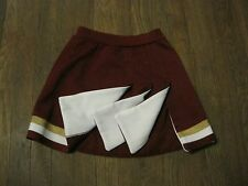 LITTLE GIRLS CDT CHEERLEADER SKIRTS CARDINAL WHITE MET GOLD Y2XS-YM