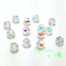 Crystal AB (001 AB) Swarovski Elements 5000 Crystal Round Beads 4mm 6mm 8mm