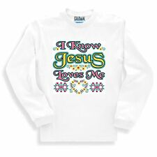 Christian SWEATSHIRT I Know Jesus Loves Me