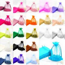 "100pieces 3""x4""Wedding Organza Favor Bags Party Decoration Gift Candy Pouches"