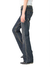 Stitch's Womens Bootleg Boot Cut Jeans Legging Casual Classic Pant Blue All Size