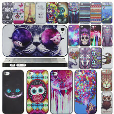 Fashion New cartoon Pattern Back Case Cover skin For apple iPhone 4G 5S 5C