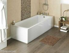 MDF White Bath Panel & Plinth - High Gloss Front & End Pieces Adjustable Wood