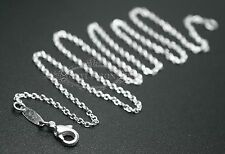 """Free shipping Wholesale sale fashion 16""""~24"""" 1mm Rolo Silver EP Chain necklace"""