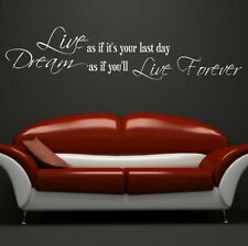 Dream Live Forever Inspirational Wall Quote Large Motivational Quote DAQ22