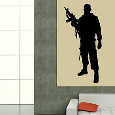 SOLDIER BRITISH ARMY MAN WALL ART STICKER DECAL VINYL PICTURE TATTOO MURAL RA172