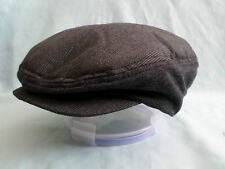 GENTS GREY NEWSBOY PAPER BOY FLAT CAP LITE WEIGHT GREAT FOR FOLDING IN POCKET