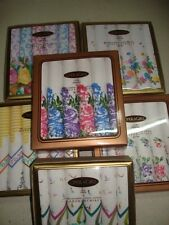 30 x 30 Ladies Cotton Colour Printed Handkerchiefs Set Of 6 With Free Shipping