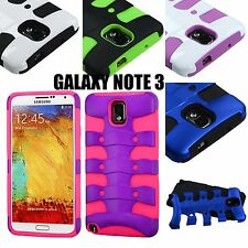 For Samsung Galaxy Note 3 - HARD & SOFT RUBBER HYBRID ARMOR SKIN CASE FISHBONE