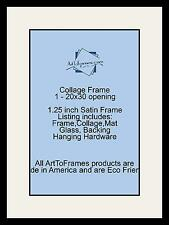 Satin Black Collage Picture Frame with 1 - 20x30 opening(s), Double Matted