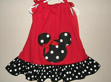 Custom Boutique Minnie Mouse Red & Black Dot Pillowcase Dress FREE SHIPPING