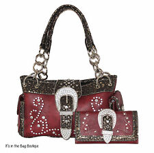 Concealed Carry Purse with Matching Wallet by Montana West - Gun Pistol Handbag