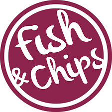 FISH & CHIP SHOP TAKE AWAY VINYL SIGN WINDOW/WALL DECALS BUY 2 GET 1 FREE