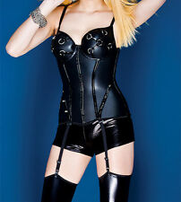 new sexy black Plus Size Black Shiny Bustier for women LC1143 winter