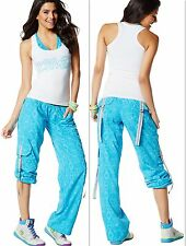 ZUMBA  FITNESS 2 PIECE SET! Essential CARGO Capri PANTS & Top Shirt RACERBACK