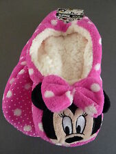 NEU Primark Disney MINNIE MOUSE Fleece Hausschuhe Ballerina Slipper Socken 36-42