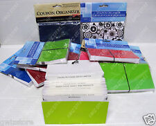 Expandable Coupon Organizer  Elastic Closure and 12 Labeled Pockets Multi-Color