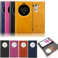 Pu leather Quick Circle window wallet card flip foilo Case cover  for LG G3 V10